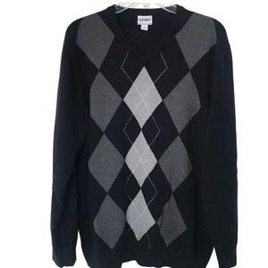 Old Navy Argyle V-Neck Sweater Size XL